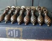 Vintage Bronze Hardware, Cabinet Pulls, Handles, Drawer, Cupboard, Furniture, Hinged, Dangle, Swirl, Replacement