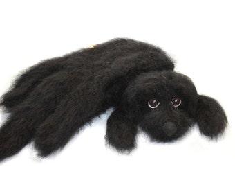 Knitted Scarf / Newfoundland dog scarf / Fuzzy Soft Scarf  black  Dog scarf / knited dog scarf / animal scarf / long scarf / Dog Breed Scarf