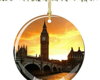 Big Ben Porcelain Christmas Ornament Decoration