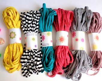 Cotton Fabric Cord for Jewelry, 10 yards Jersey yarn for Necklaces, Do it yourself jewelry