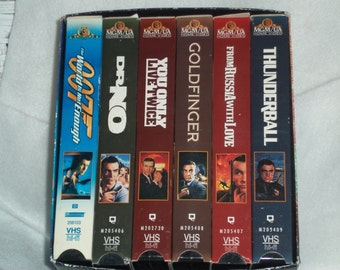 Vintage  Bond Movies  007, With Sean Connery , Set of  6  In Volume # 2   ( 1999 ) V.C.R