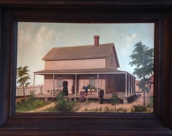 19th Century American Painting of a California Ranch House