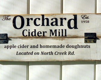 Country Rustic Vintage Aged Farmhouse Cider Mill Sign