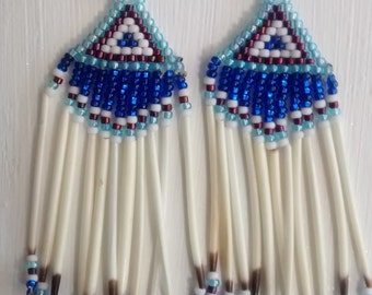 Cascading Grace Porcupine Quill Earrings