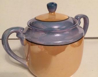 Sugar Bowl Lusterware Vintage Coffee