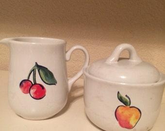Vintage Creamer and Sugar Bowl