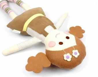 handmade rag doll | camille cloth doll | first doll | keepsake rag doll | girl doll  |  camille doll