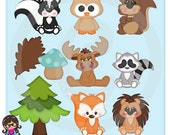 2016 Woodland Babies Clip art  Clipart Graphics  Commercial Use