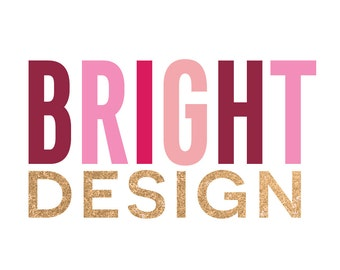 Pre-Made Logo Ready to Add Your Company Name - Style - Bright Design
