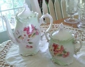 Antique Teapot and Sugar Bowl Set