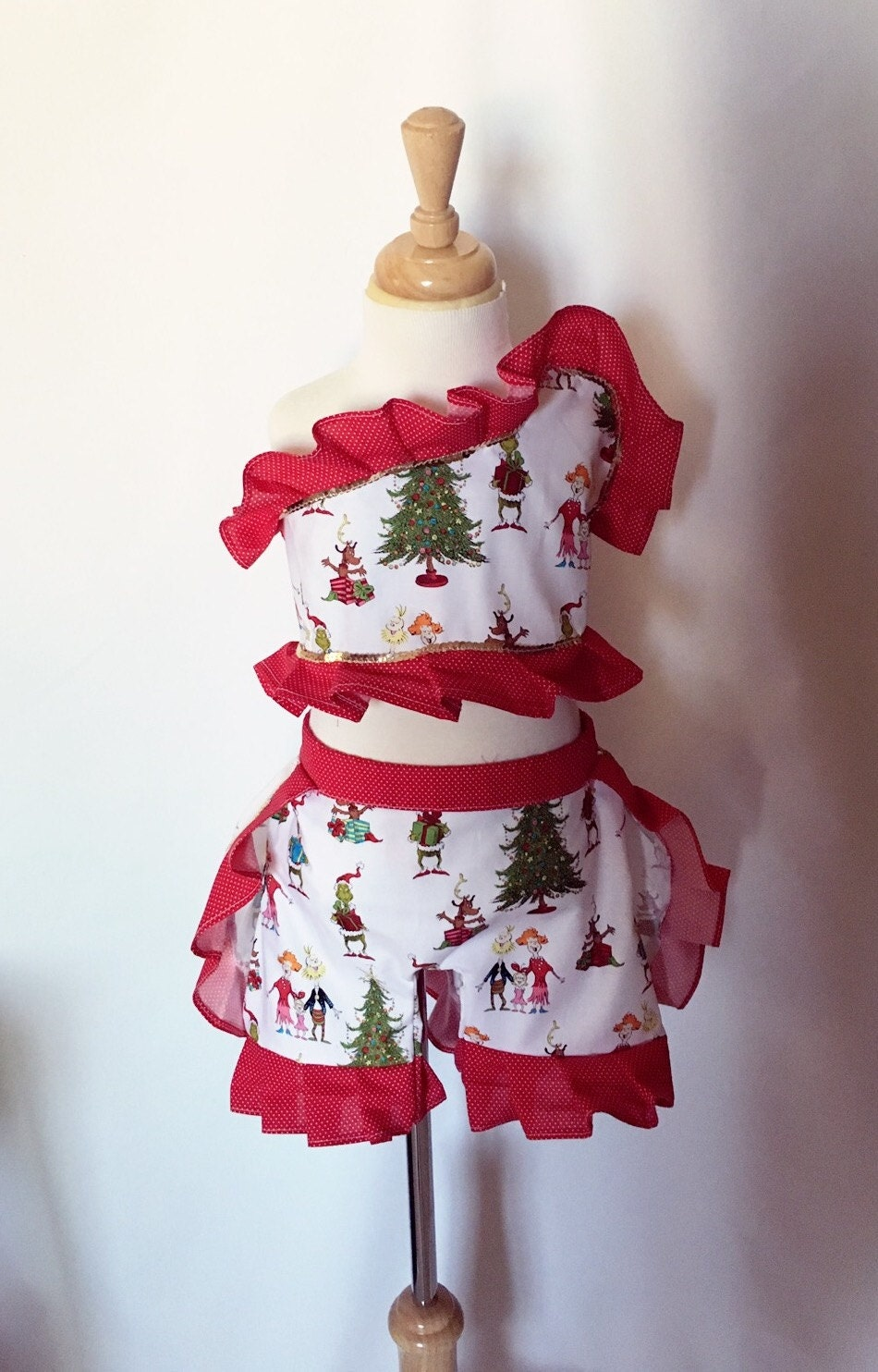 Grinch christmas holiday boutique style pageant wear size for Holiday boutique