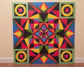 SYMMETRY original one of a kind symmetrical, geometrical acrylic modern / contemporary painting FREE SHIPPING
