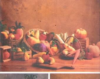 1990 Butterick 5086 Fabric Stuffed Fruits & Vegetables Designed by Margit Echols Sewing Pattern UNCUT