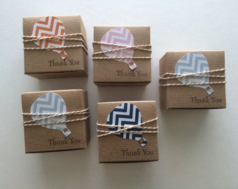 15 Hot air balloon favor boxes birthday party favor baby shower favor NEW