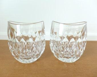 Pair of Gorham Althea crystal vases