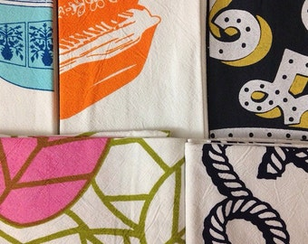 Sale! 5 Flour Sack Tea Towels--Discontinued
