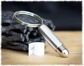 Men's Hidden Message Keychain • Bullet Keyring • Cremation Keychain • Cremation Urn