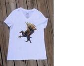 Doberman Dog top,  Dog Lover Gift, animal shirt, surreal art t-shirt, funny t-shirt-, women's t-shirt