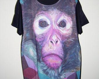Chimpanzee Shirt Monkey Shirt Animal T-Shirt Men TShirt Men Tee Men T Shirts Men Shirts Size S L