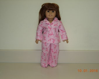American girl doll pajamas with slippers