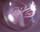 FREE Infant Loss Hand Engraved Ornament by Kitty Piston