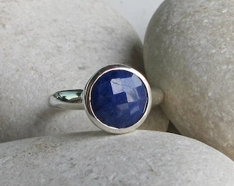 SALE Sapphire Ring- Blue Sapphire Ring- September Birthstone Ring- Blue Gemstone Ring- Blue Ring- Something Blue