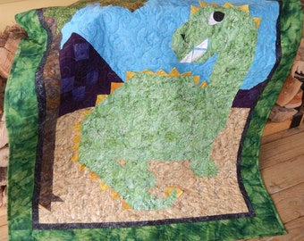 D is for Dinosaur Youth Quilt