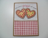 Anniversary/Love Card - Pizza Pun Card - You Have a Pizza My Heart - BLANK Inside