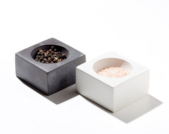 Salt & Pepper Pinch Pots / NANO ORB Concrete Bowl Set of two