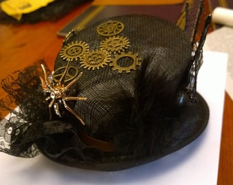 Steampunk mini top hat halloween, special occasion, alternative wedding