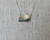 Silver Hedgie Necklace - Handmade Hedgehog - Sterling Silver