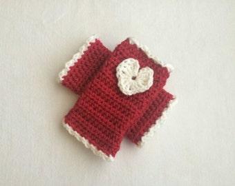 Little girl's Valentine arm warmers