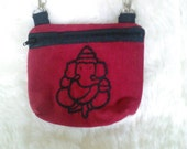 Ganesha Embroidered Hip Bag/ Belt loop Bag