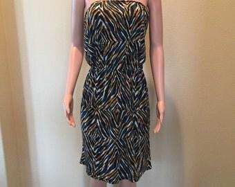 Multi colored tube dress