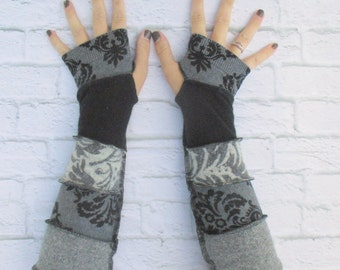 Fingerless Mittens - Best Seller - Hand Warmers - Gypsy Clothing - Ready to Ship - Upcycled Sweaters - Most Popular Armwarmers - Hippie