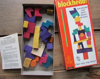 Blockhead Vintage Party Game by Saalfield Famil Game Night