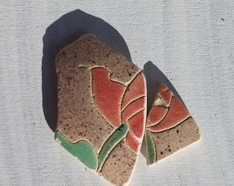 Mackintosh design beach pottery sea glass china terracotta stepping stones mosaic jewelry supplies craft supply (37)