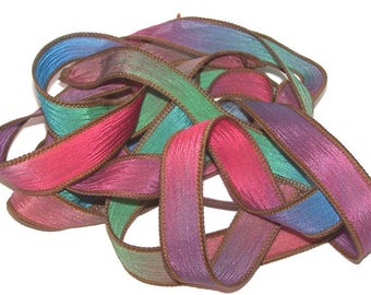 3 Pack Special Sale/Silk Ribbons/Hand Dyed/Wrist Wraps/Sassy Silks/Ready to Ship/ See Description for Details/Lollipops