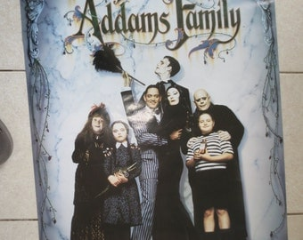VINTAGE ADAM'S FAMILY Poster 80s