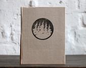 """Handmade Journal Tartuensis Classic """"Forest"""" blank book from upcycled book covers"""