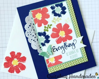 Stampin' Up! Sympathy Card/Thinking of You Card- Celebrate Everything- Floral Arrangement