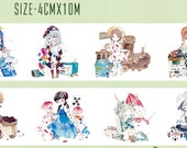 1 Roll of Limited Edition Washi Tape: Lovely Girls