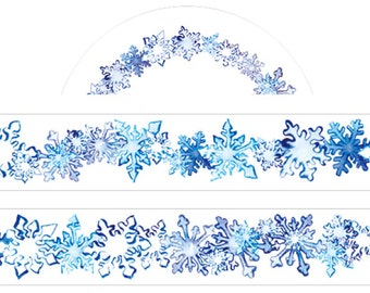 1 Roll Limited Edition Washi Tape- SnowFlake Crystal Flower