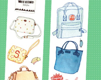 1 Roll of Limited Edition Washi Tape:  MY BAGs