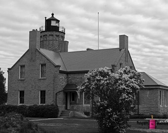 Old Mackinac Point Lighthouse (FREE SHIPPING in the U.S.only)--card, print or canvas