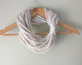 Winter White Chain Scarf ...