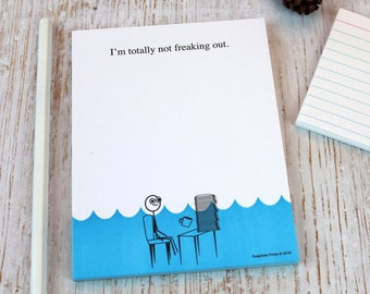 I'm Totally Not Freaking Out Notepad Funny Gag Gift Ideas for Office Work Desk Boss Coworker Teacher Student Boyfriend Girlfriend Mom Dad
