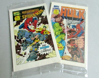 Vintage Marvel Mini Comics, Limited Series No. 1, 2, 3, 4, Choice of Spider Man and Wolverine or Hulk and Silver Surfer, Drakes 1993