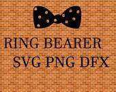 Ring Bearer Svg With Tie SVG File Instant Download Wedding Shirt SVG Bridal Party Design SVG Ring Bearerl Svg Groom Party Svg  Png Dxf