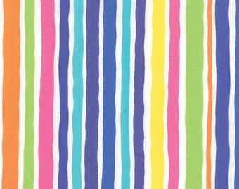 Dot Dot Dash Wobbly Stripes 22264-20 in White by Me & My Sister Designs for Moda